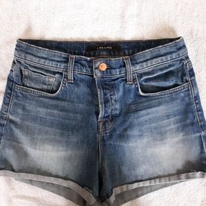 "J Brand ""jagger"" button fly denim shorts"